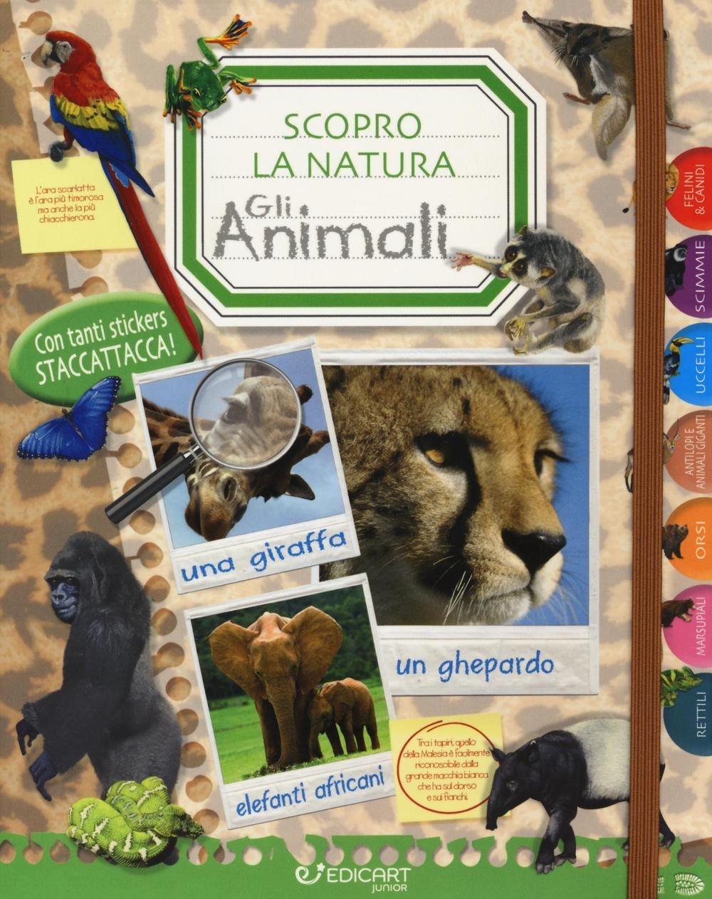 Un mondo di animali. Scopro la natura. Con adesivi. Ediz. illustrata