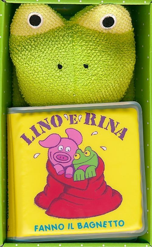 Lino e Rina fanno il bagnetto. Con gadget