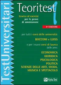 Image of Teoritest. Vol. 1: Teoria ed esercizi per le prove di ammissione p..