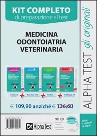 Image of Medicina, odontoiatria, veterinaria. Manuale di preparazione, eser..