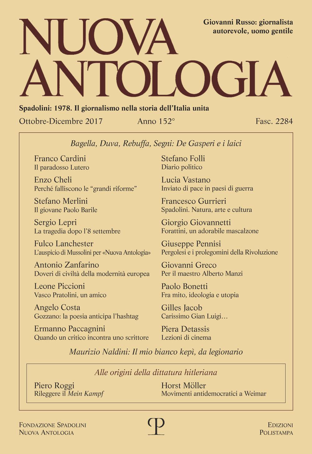 Image of Nuova antologia (2017). Vol. 4: Ottobre-Dicembre.