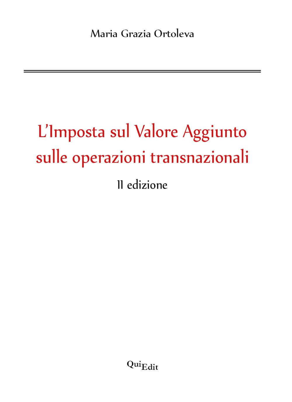 Image of L' imposta sul valore aggiunto sulle operazioni transnazionali