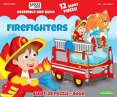 Firefighters. Assemble and build. Libro puzzle