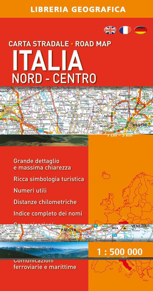 Cartina Geografica Centro Nord Italia.Italia 1 5000 Nord E Centro Libro Libraccio It