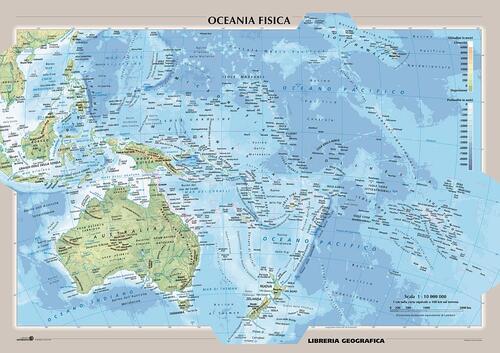 Cartina Fisica E Politica.Oceania Fisica E Politica Carta Murale Libro Libraccio It