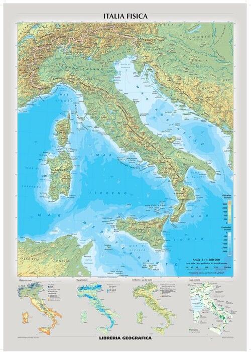 Cartina Politica Italia Zoom.Italia Fisica E Politica Libro Libraccio It
