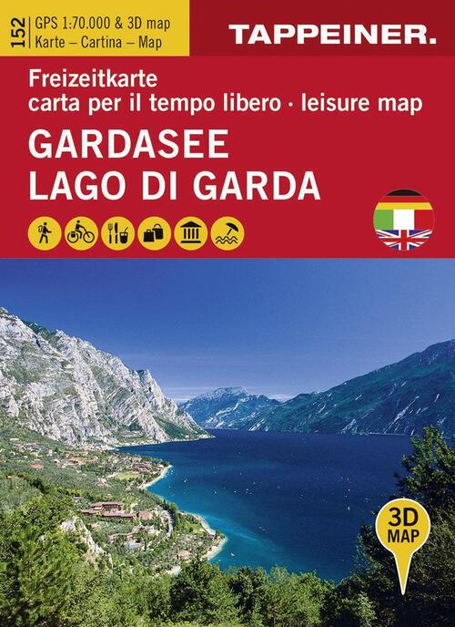 Cartina Topografica Lago Di Garda.Koka 152 Lago Di Garda Carta Topografica 1 70 000 E Panoramica In 3d Libro Libraccio It
