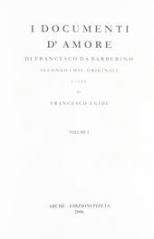 I documenti d'amore. Secondo i mss originali  - Francesco da Barberino Libro - Libraccio.it