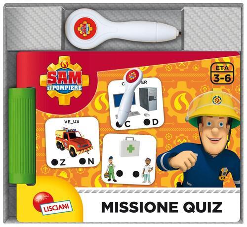 Sam Il Pompiere Libro Quiz Con Penna Elettronica Con Gadget