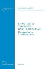 Structure le theologie dans le Trito-Isaie