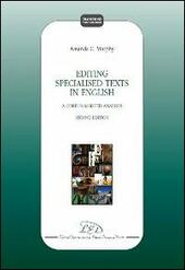 Editing specialized texts in english. A corpus-assisted analysis