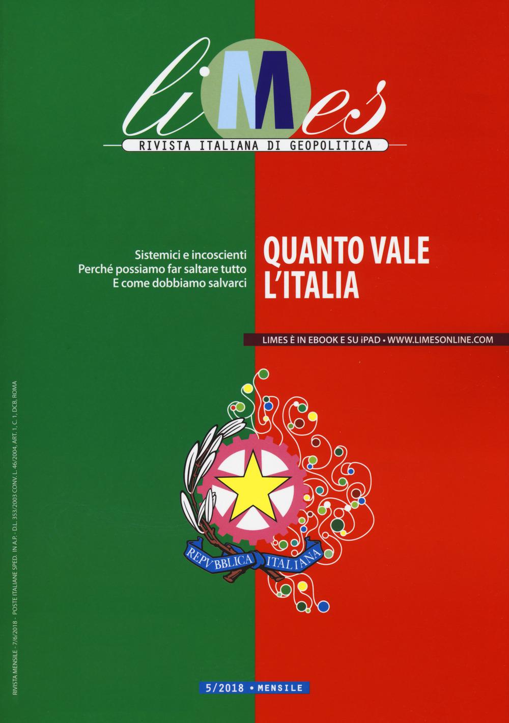 Image of Limes. Rivista italiana di geopolitica (2018). Vol. 5