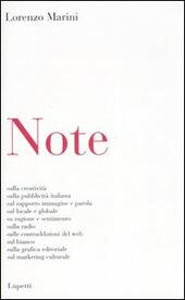 Note  - Lorenzo Marini Libro - Libraccio.it