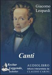 Canti. Audiolibro. CD Audio formato MP3