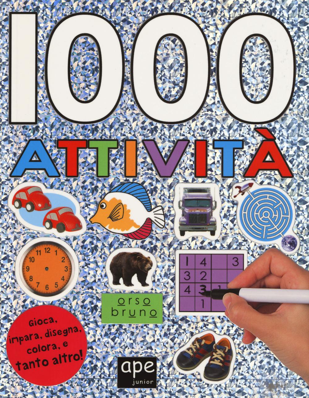 Image of 1000 attività. Con adesivi. Ediz. a colori