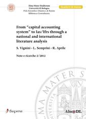 From «capital accounting system» to Ias/Ifrs through a National and International literature analysis