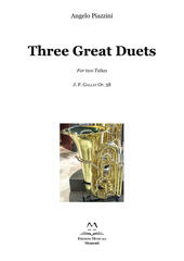 Three great duets for two tubas. J. F. Gallay Op. 38