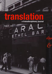 Translation. A transdisciplinary journal. Vol. 5