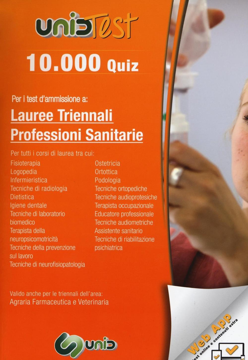 Image of 10.000 quiz per i test d'ammissione a lauree triennali professioni..